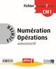 FICHIER NUMERATION OPERATIONS CM1 NIVEAU 1 FICHIER 7///PEMF/