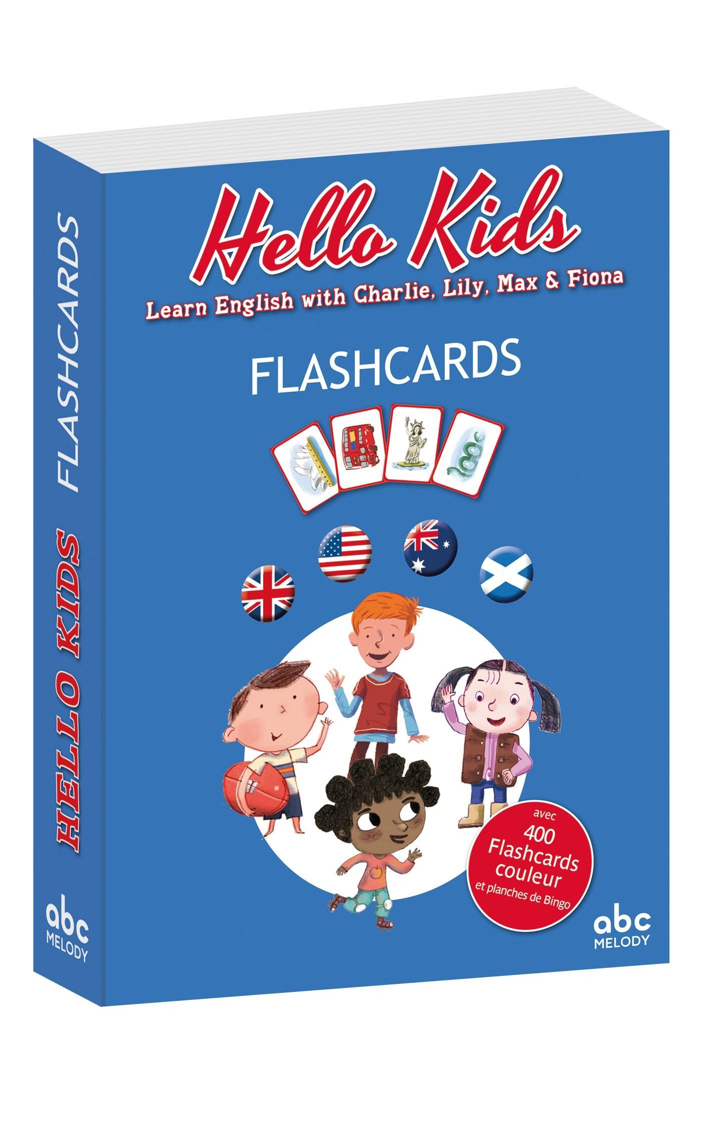 HELLO KIDS FLASHCARDS / LIVRES CD / ABC MELODY