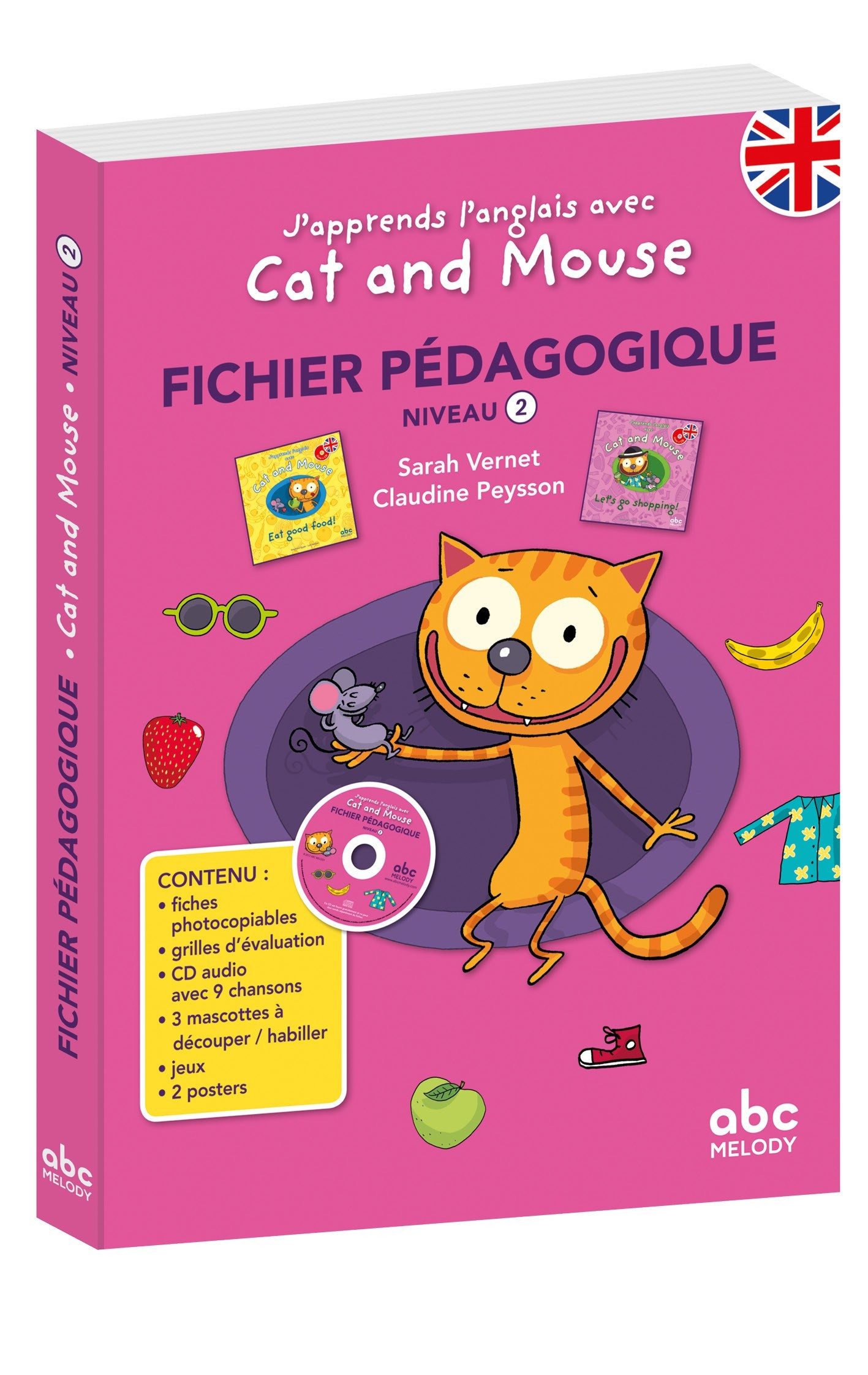 J'APPRENDS L'ANGLAIS AVEC CAT AND MOUSE - FICHIER PEDAGOGIQUE - NIVEA