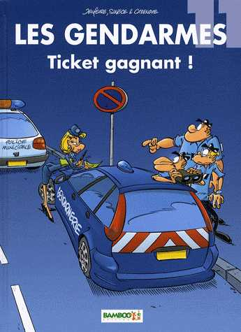 TICKET GAGNANT T11/ COLL LES GENDARMES/ BAMBOO
