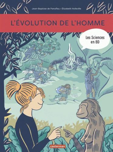 LES SCIENCES EN BD - L'EVOLUTION DE L'HOMME / TOUT EN BD / CASTERMAN