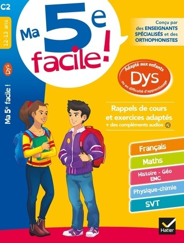 MA 5E FACILE !DYS 12/13ANS /HATIER