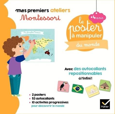 COFFRET MONTESSORI POSTER A MANIPULER DU MONDE / PREMIERS AT / HATIER