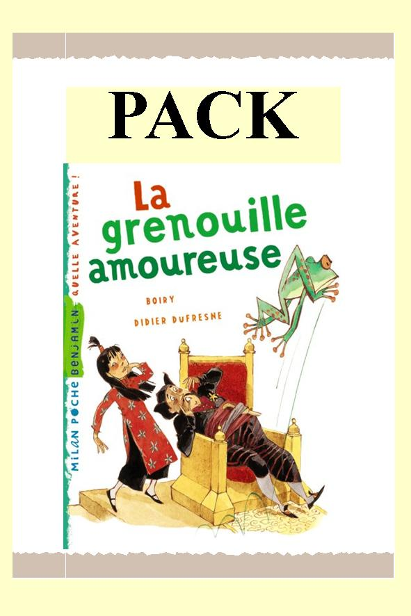 PACK GRENOUILLE AMOUREUSE 25 ex + fiches/ MILAN